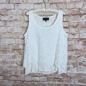Anthropologie Sunday's In Brooklyn White Lace Tank